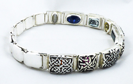 9 gem bangle in a beautiful celtic style design