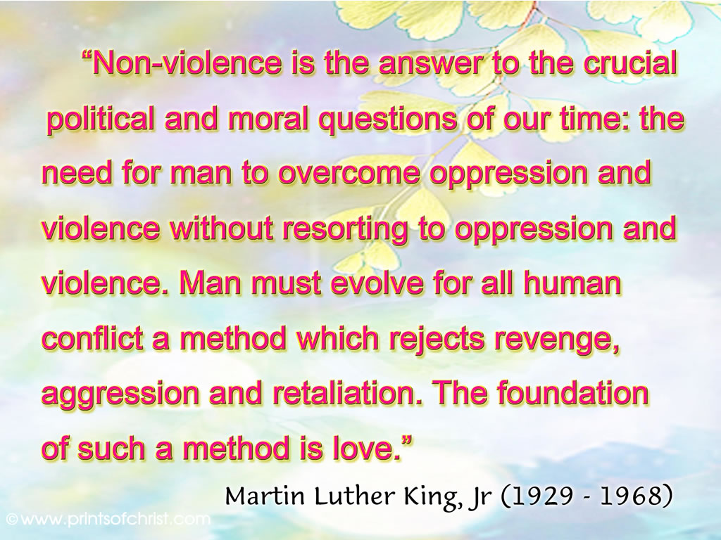 Words of MLK Background