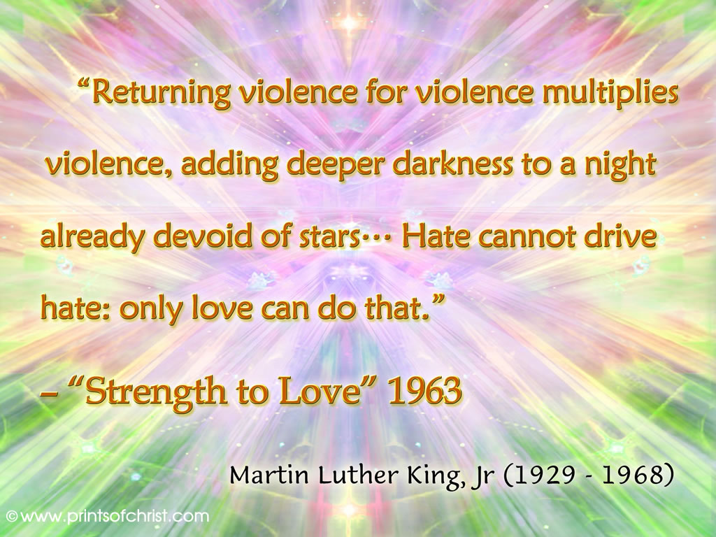 Words of Dr Martin Luther King Jr