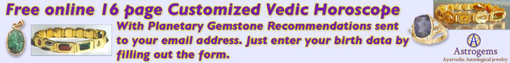 Astrogems ayurvedic astrological jewelry banner for free vedic horoscope