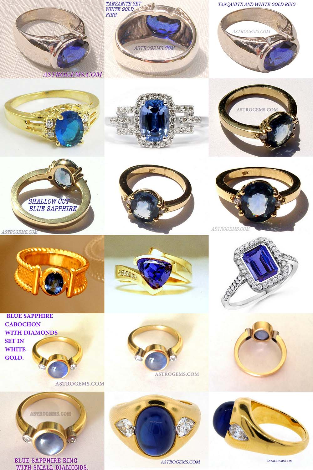 Astrogems makes a large range of astrological blue sapphire rings.