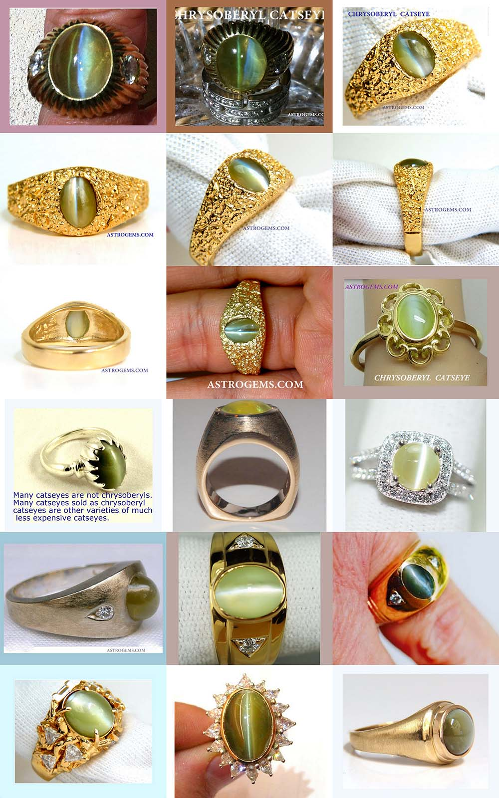 Astrogems can make astrological Chrysoberyl Catseye rings in any style.