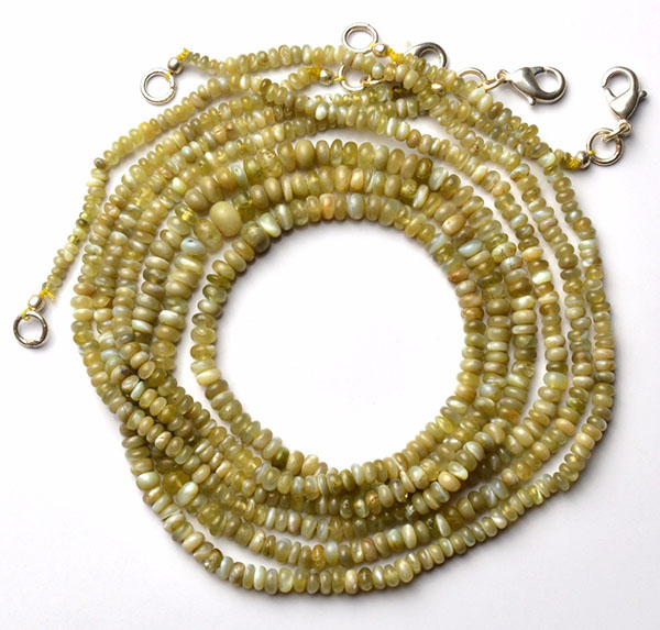 natural chrysoberyl cat's eye necklace 18 inches