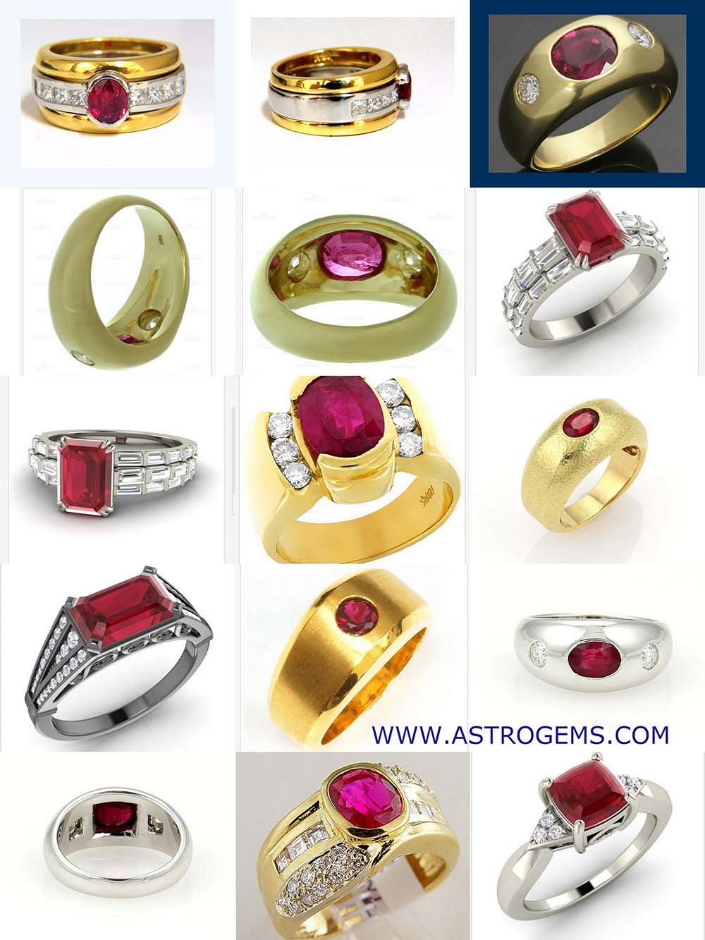Astrogems can make custom astrological Ruby rings.