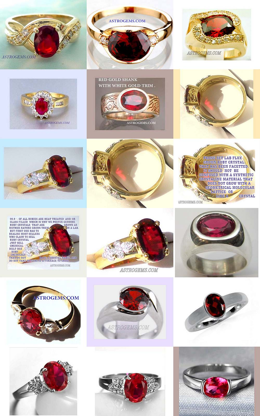 Astrogems can make custom ayurvedic Ruby rings.