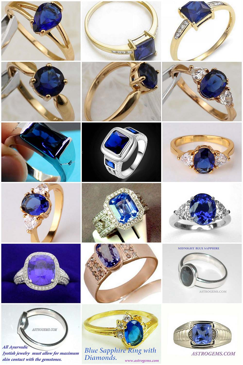 Astrogems makes healing gem rings with blue sapphire or other types of gemstones.