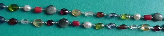 navaratna necklace closeup for crystal healing
