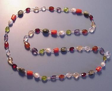 navaratna necklace for crystal healing