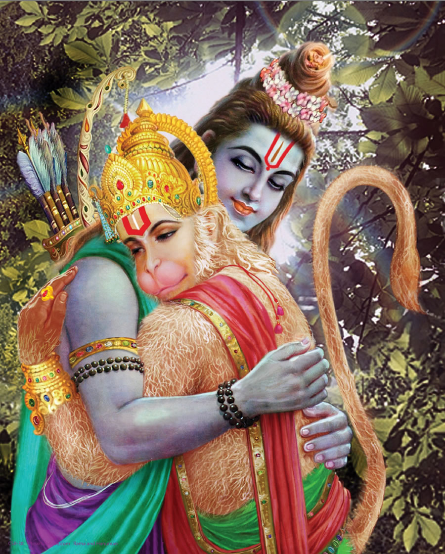 krishna and hanuman