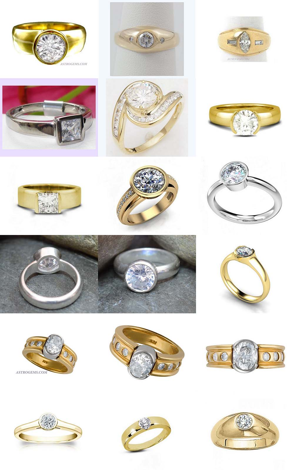 Astrogems can make jyotish astrological diamond rings in any style.