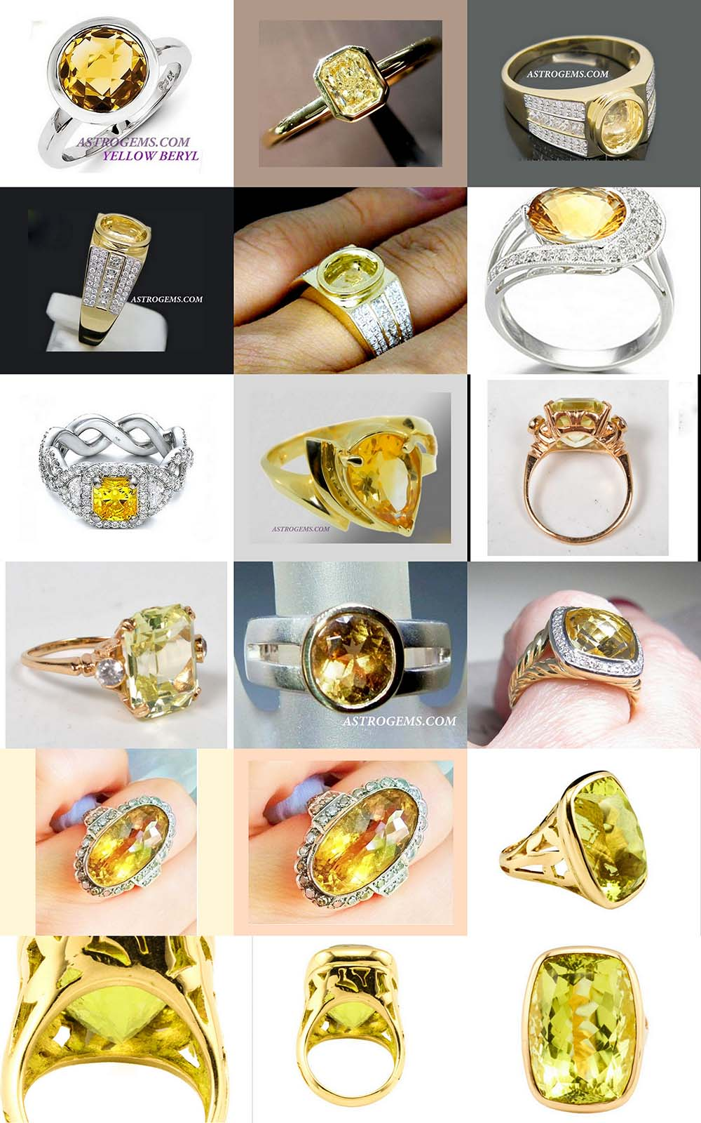Astrogems can make jyotish astrological Yellow Sapphire rings in any style.