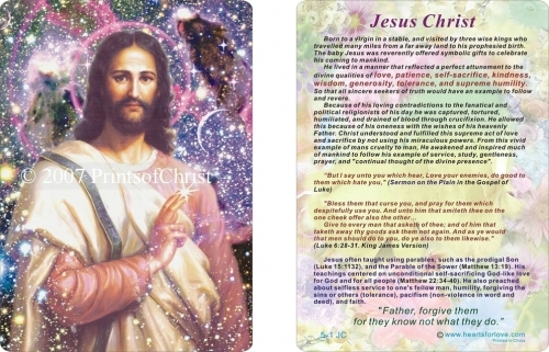 Jesus card with saying