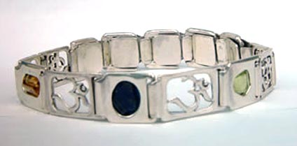 starter crystal healing bangle om links