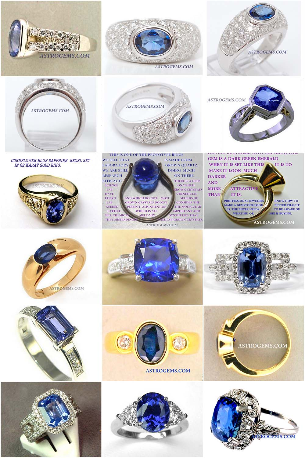 Astrogems can make any style of jyotish blue sapphire rings.