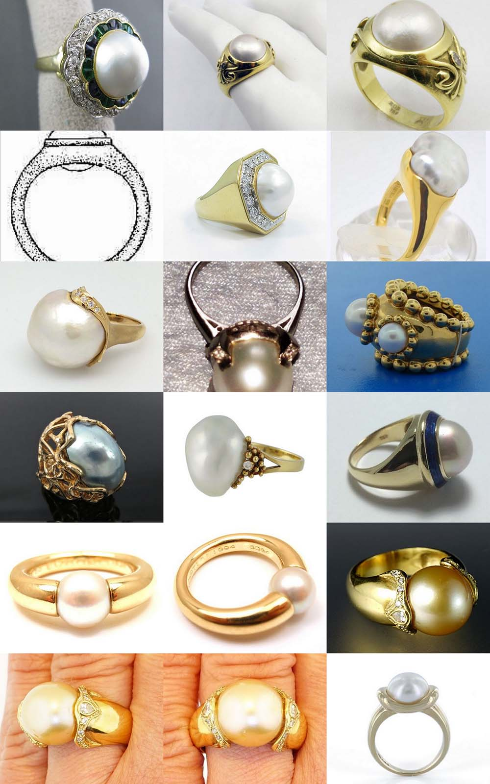 Astrogems can make jyotish pearl rings in any style.