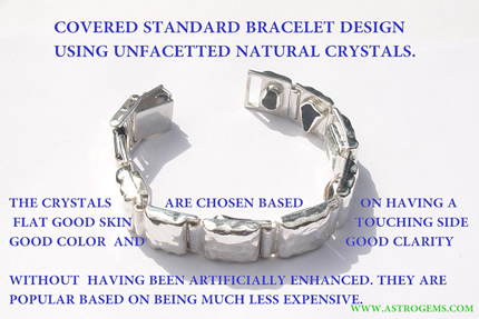 covered standard gem bracelet