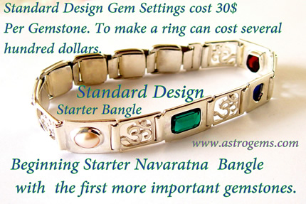 astrological golden standard bangle design