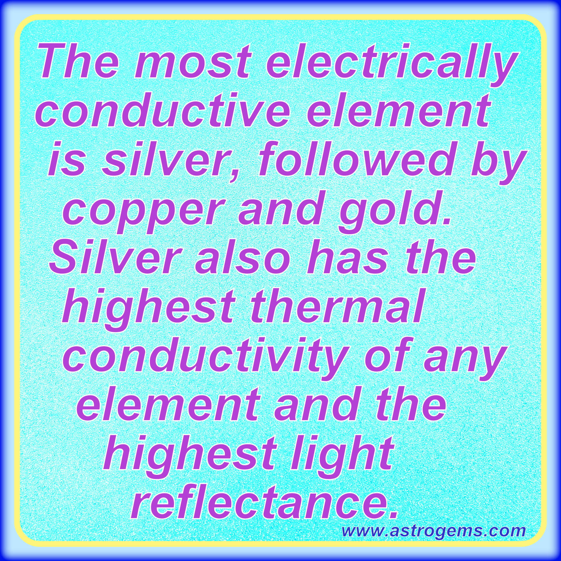 about silver copper and gold