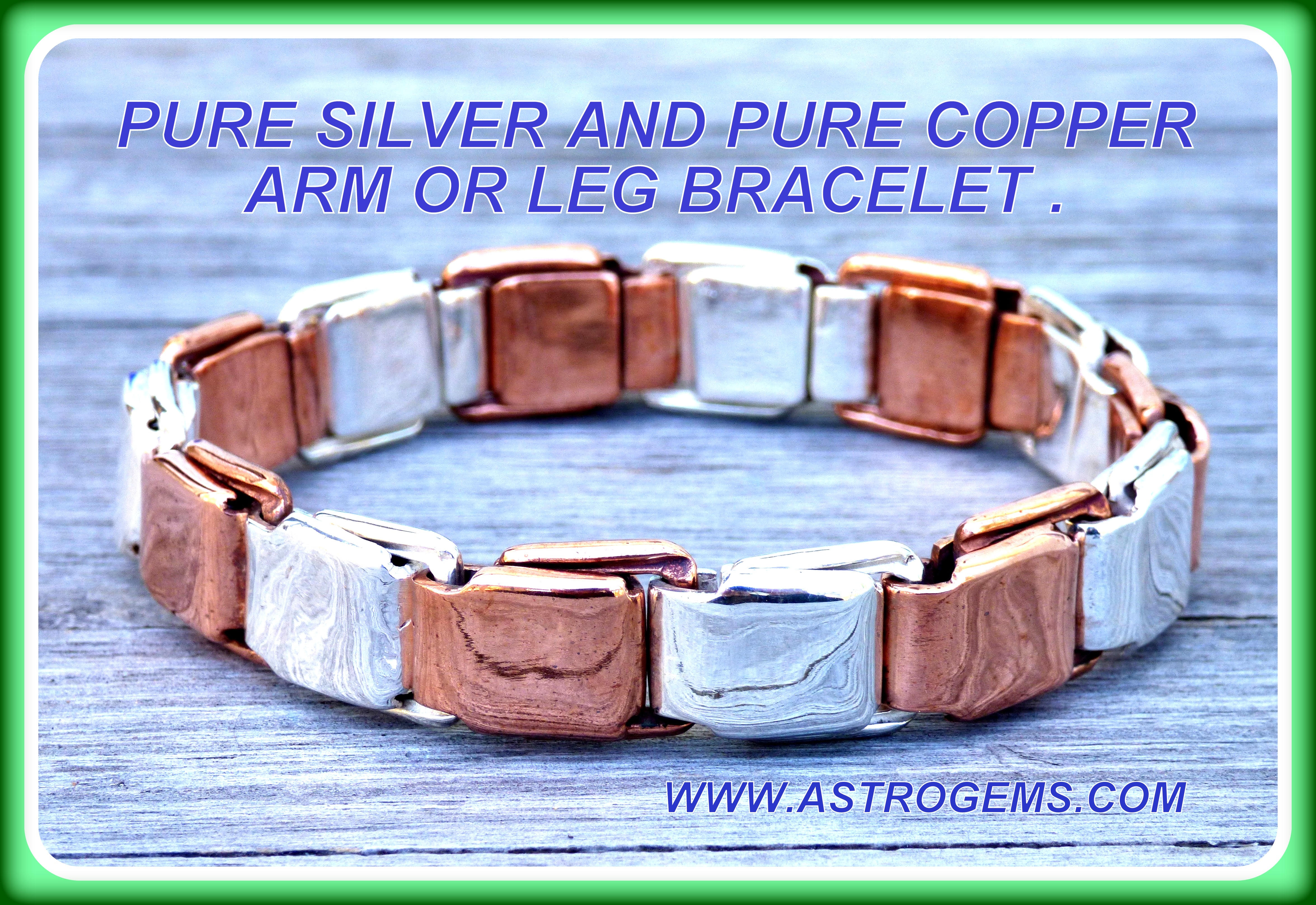 silver and copper spring bracelet