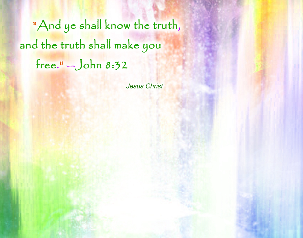 Jesus Christ John 8:32 wallpaper