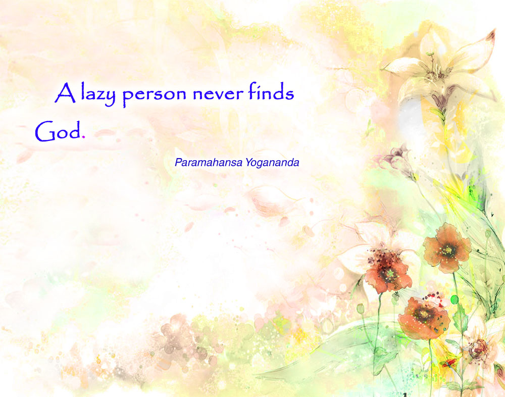 Yogananda lazy quote wallpaper