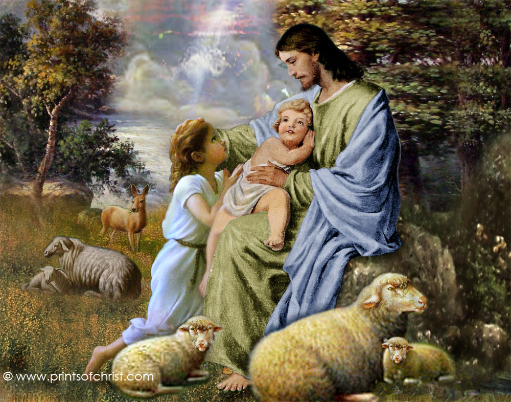 jesus with children image