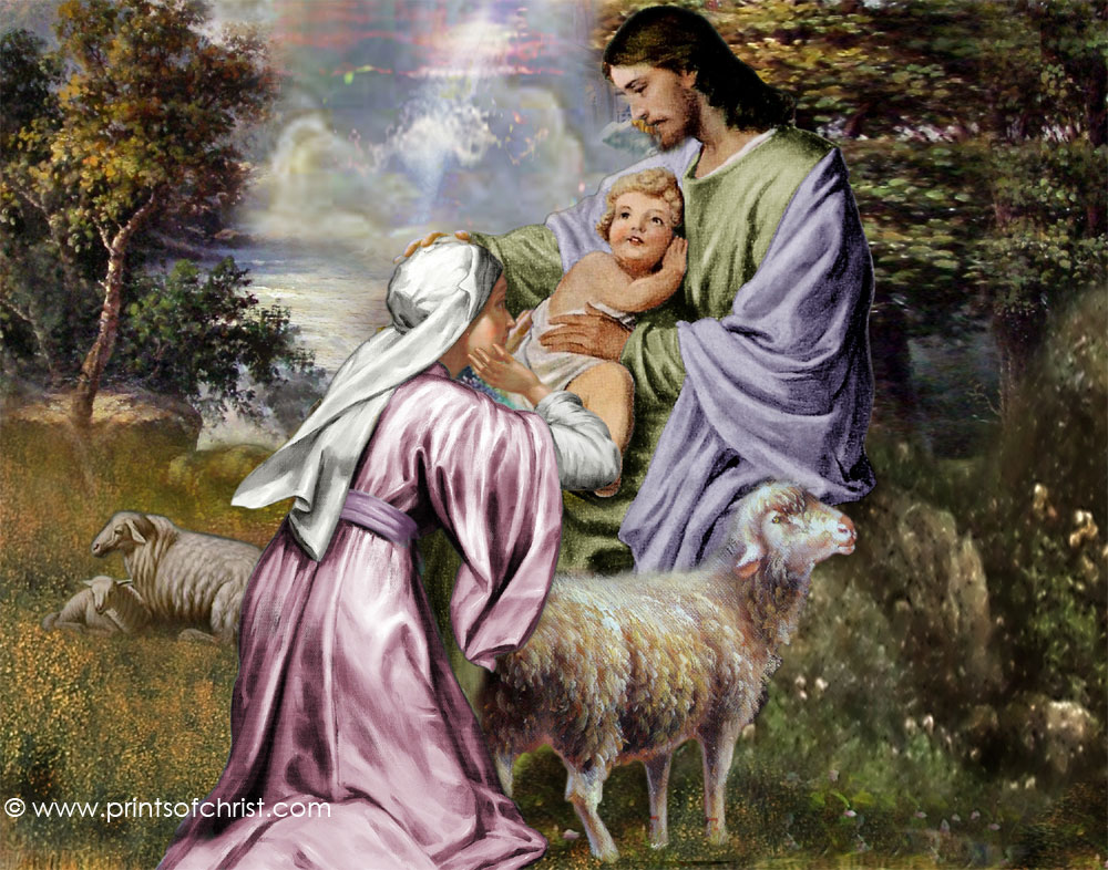 Jesus Blessing Child Image