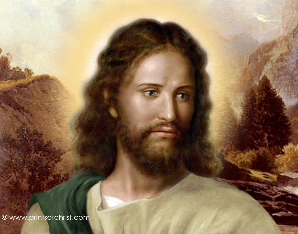 Jesus mountain background