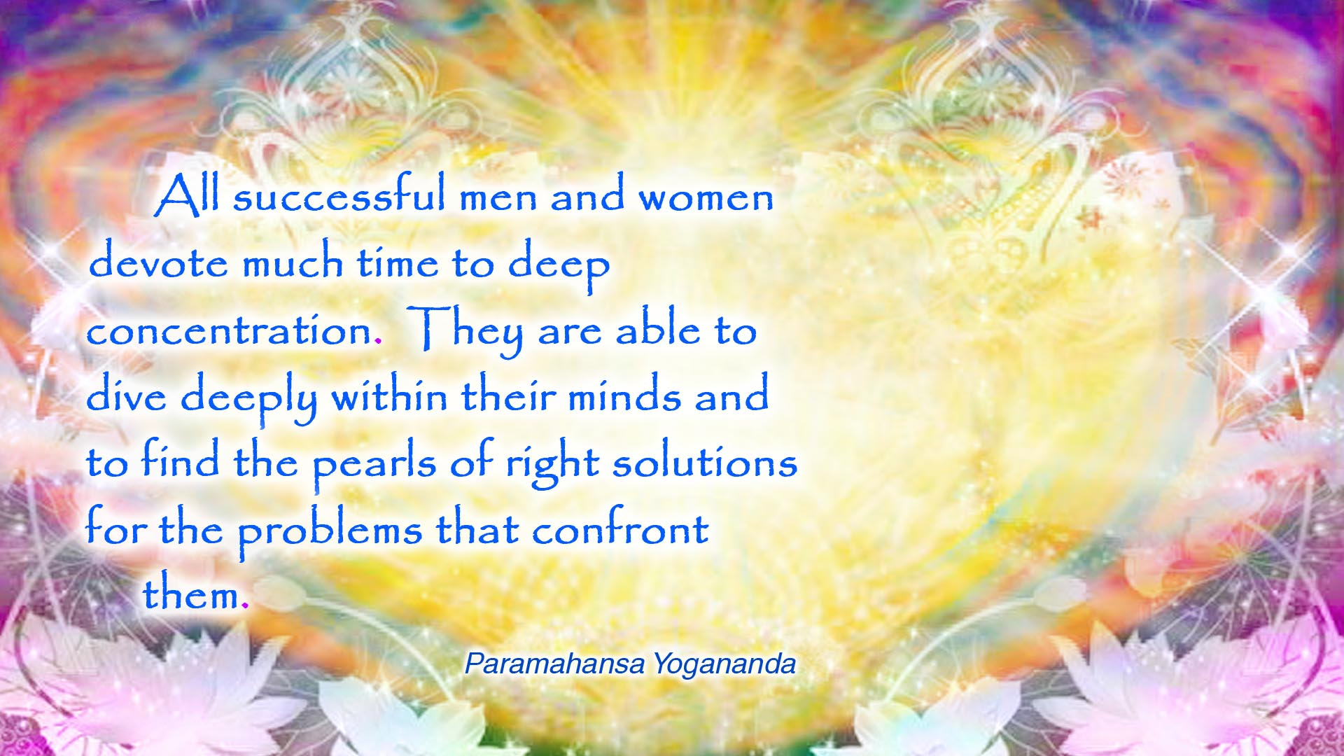 Yogananda concentration wallpaper