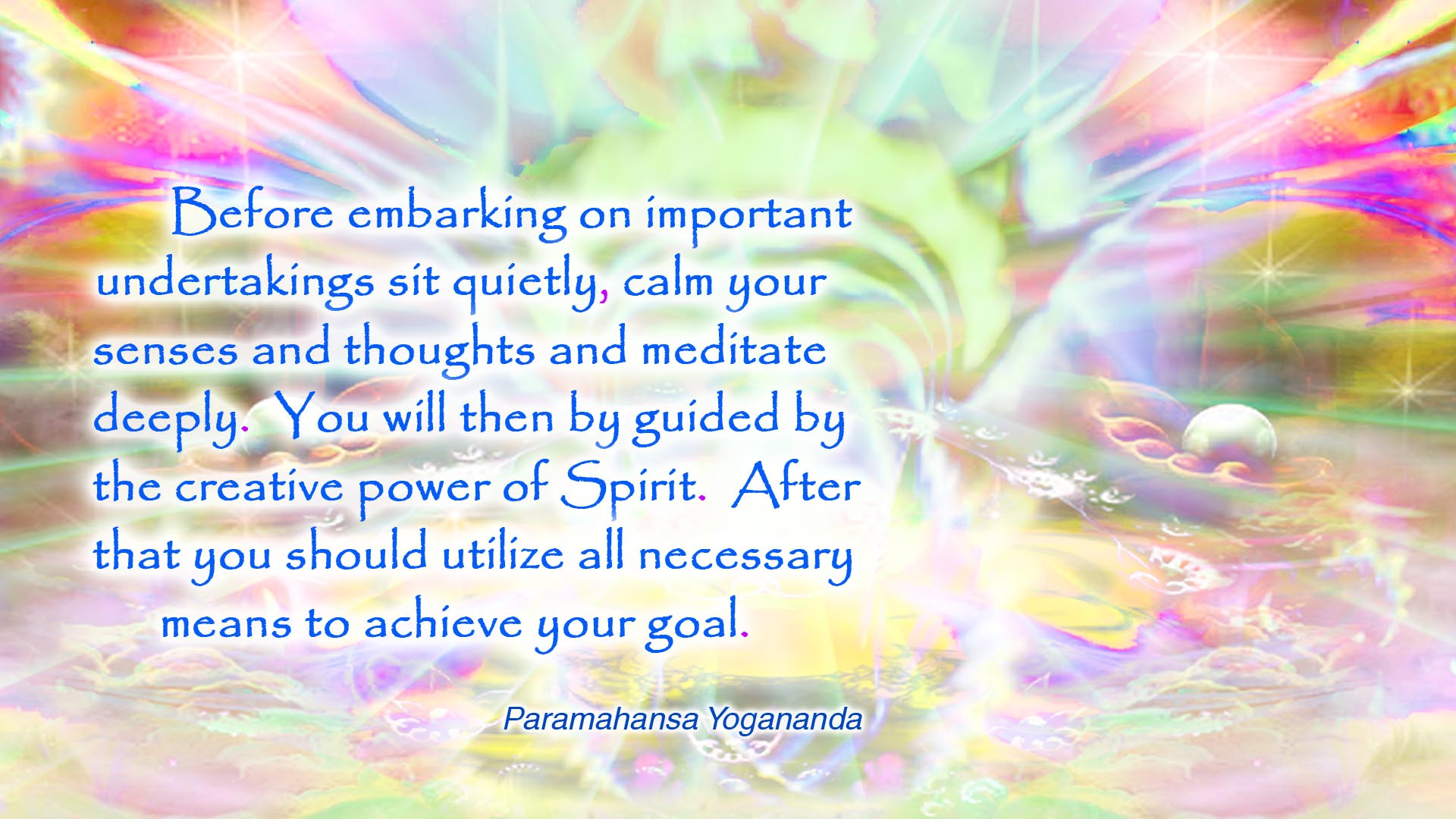 Yogananda creative power wallpaper