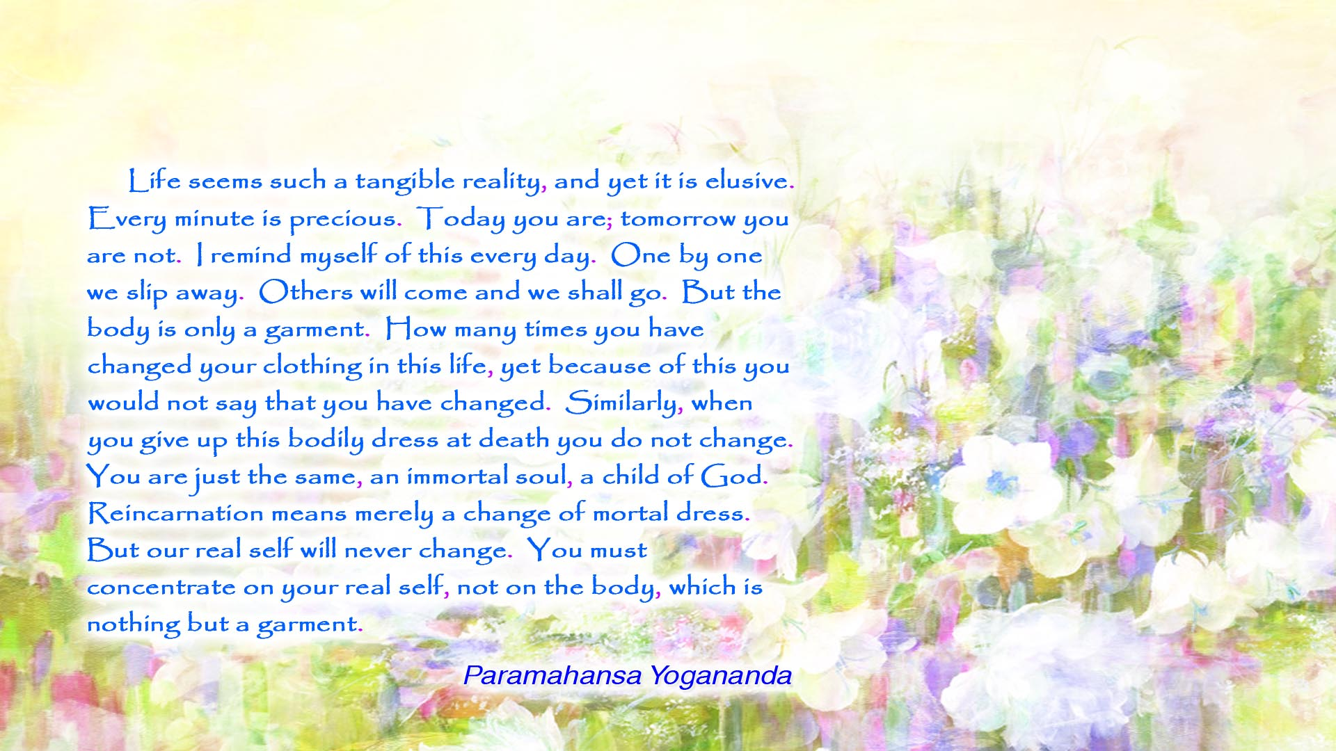 Yogananda body is a garment wallpaper