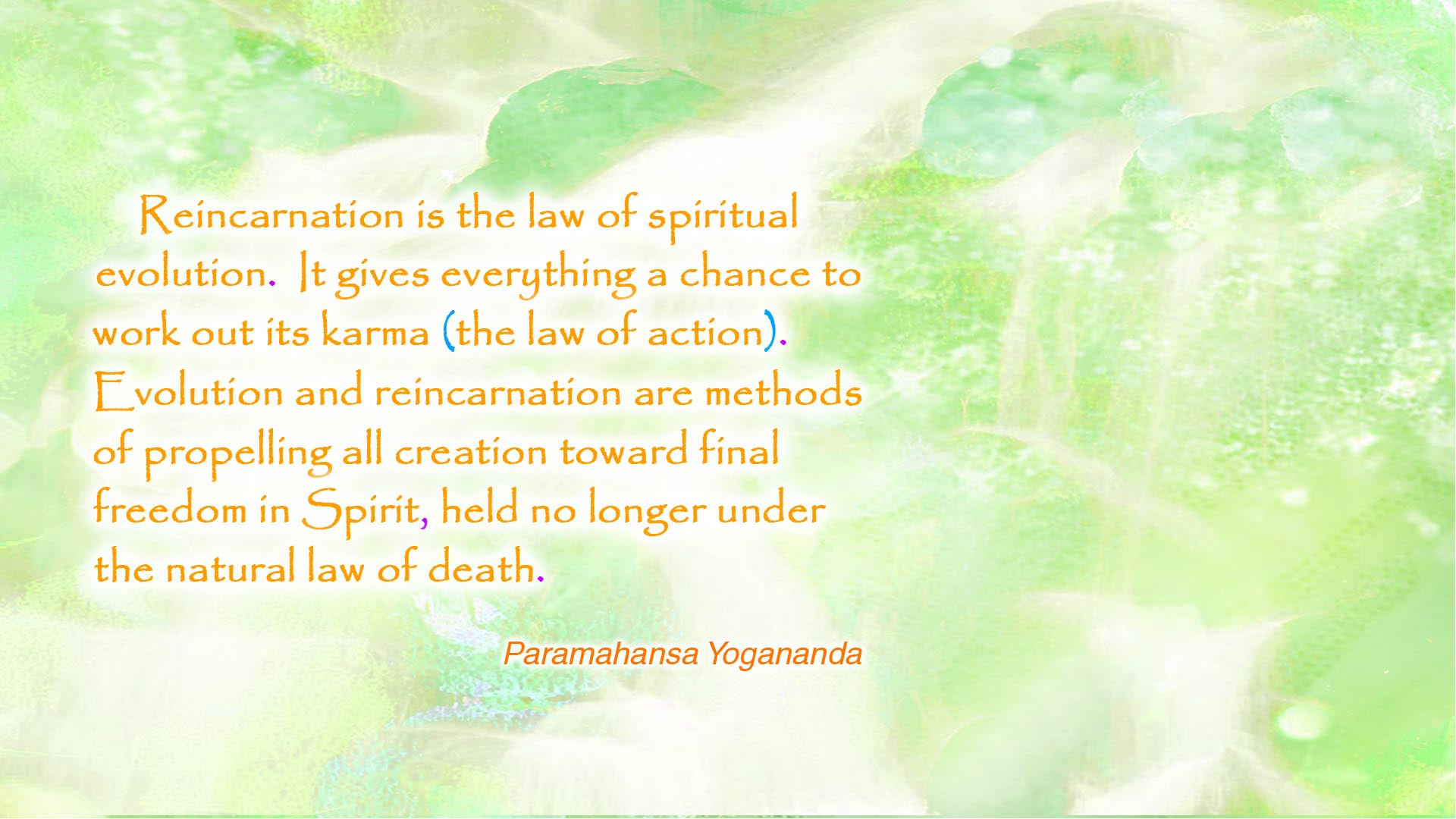 Yogananda spiritual evolution wallpaper