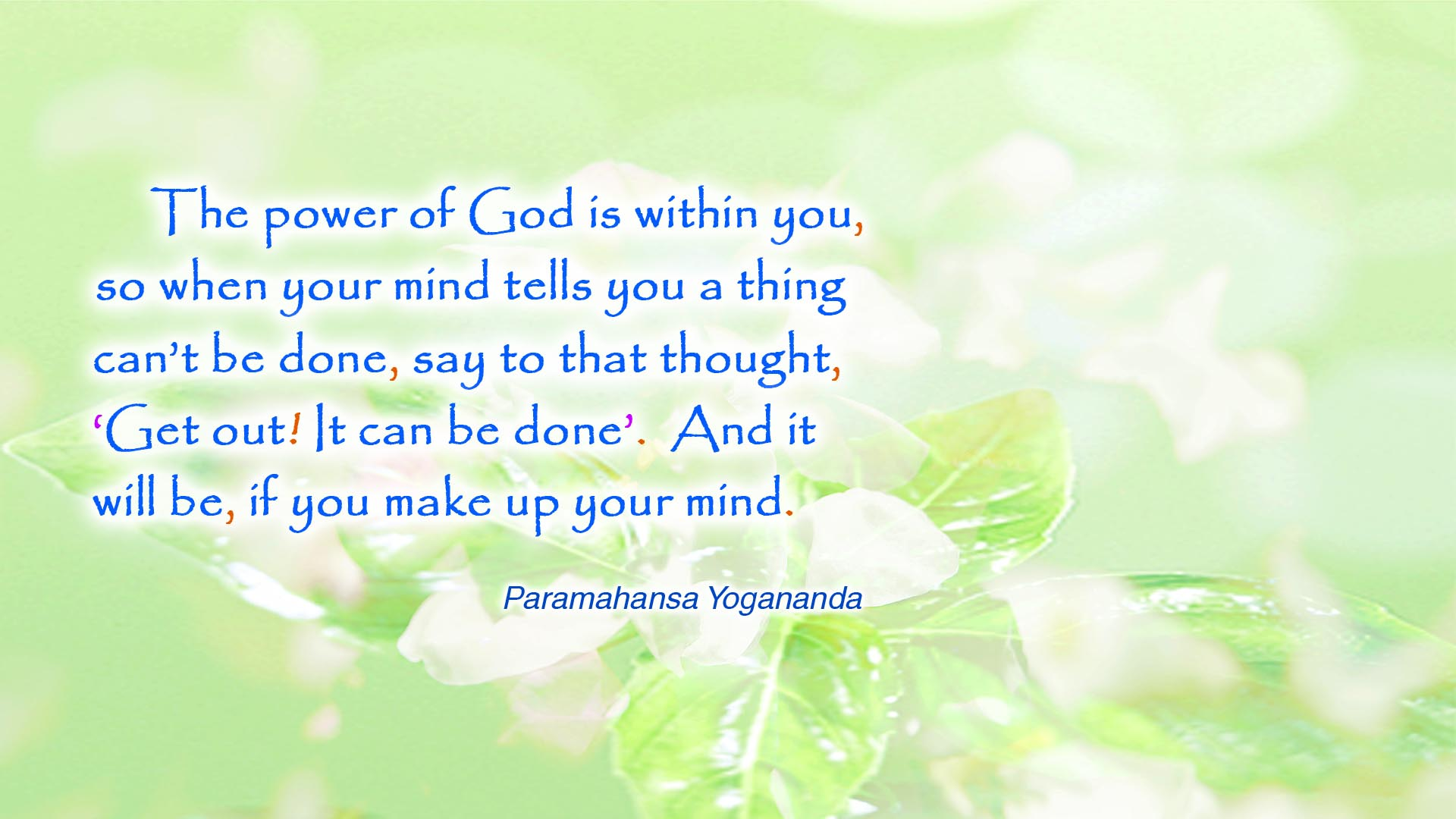 Yogananda power of God wallpaper