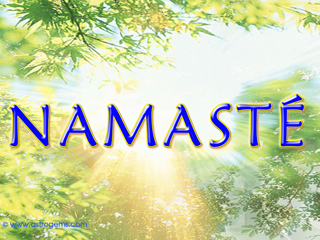 namaste picture with sun