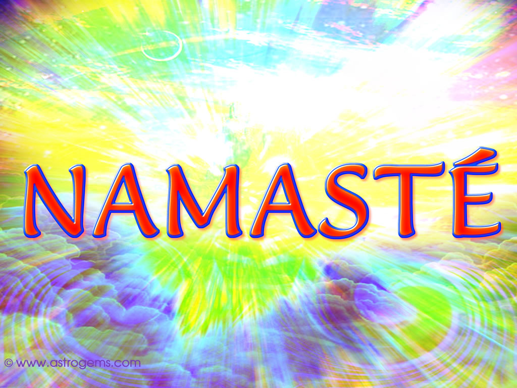 colorful namaste