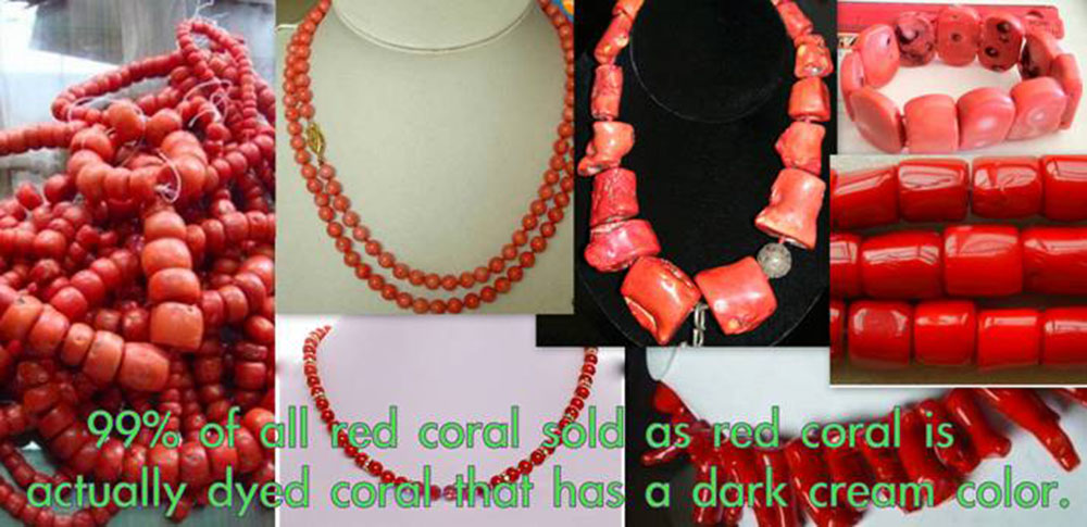 Dyed White Coral